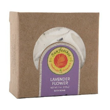 Sunfeather Lavender Flower Bath Bomb
