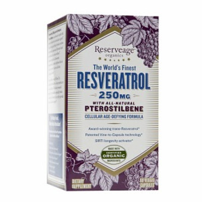 Reserveage Organics Resveratrol Pterostilbene 250 MG - 60 Veggie Caps - Resveratrol