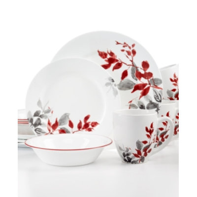 Corelle Kyoto Leaves Round 16-Piece Set