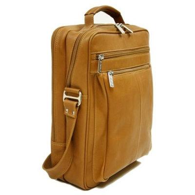 Piel Leather Laptop Shoulder Bag (Black)