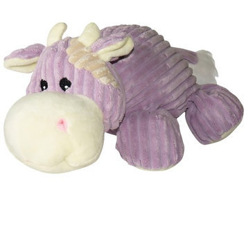 Hagen Dogit Luvz Corduroy Characters Plush Dog Toy Style/Color: Purple Cow