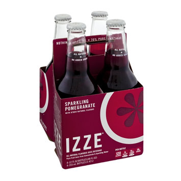 Izze All Natural Sparkling Pomegranate Flavor Juice Beverage - 4 CT