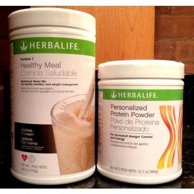 Herbalife Formula1 Nutritional Shake + Personalized Protein Powder (Cafe Latte)