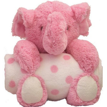 Beansprout Animal and Blanket Toy and Blanket Pink Elephant
