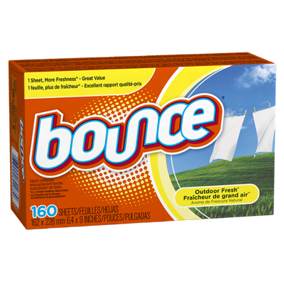 Bounce Outdoor Fresh Fabric Softener Sheets 160 Count