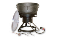 King Kooker 10-Gallon Cast Iron Jambalaya Pot w/Cooker Package