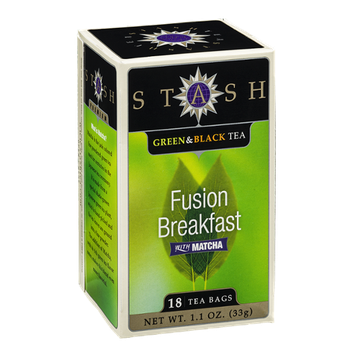 Stash Green & Black Tea Bags Fusion Breakfast with Matcha - 18 CT
