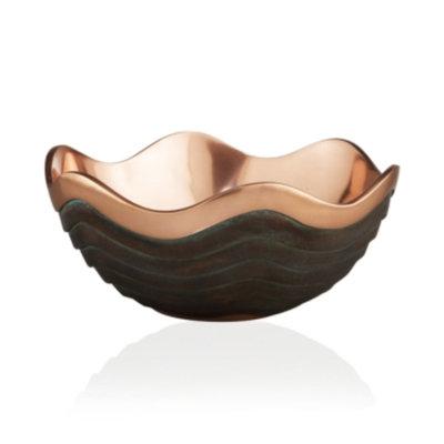 Nambe Copper Canyon Serving Bowl