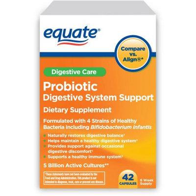 Generic Equate 4x Digestive Care Probiotic Capsules, 42 count