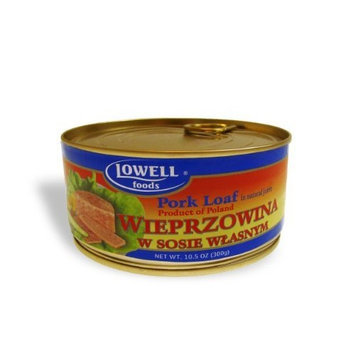 Lowell Foods Wieprzowina with Sosie Wlasnym Pork Loaf in Natural Juices, 10.5 -Oz (Pack of 6)