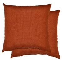 Threshold 2-Piece Outdoor Decorative Throw Pillow Set - Orange