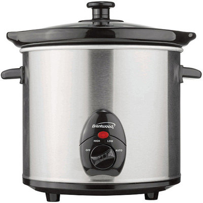 Brentwood SC-130S 3qt Slow Cooker stainless Steel Body