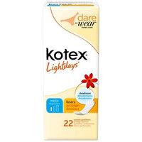 Kotex Lightdays Regular Pantiliners Scented 22-Count.