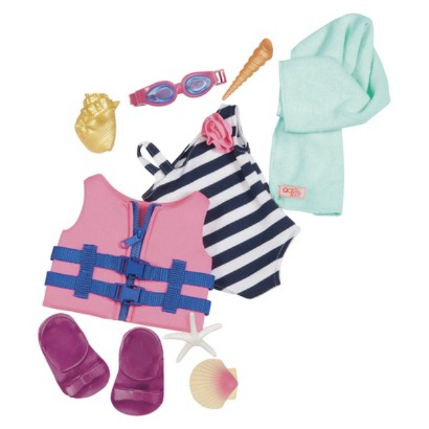 Battat Our Generation 18 Doll Outfit Bathing Suit & Life Vest