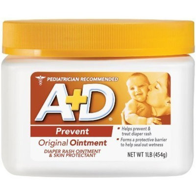 A+D Original Ointment, Diaper Rash and All-Purpose Skincare Formula 1 lb