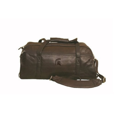 Canyon Leather NCAA Embossed Leather Sports Duffel - Marble Canyon