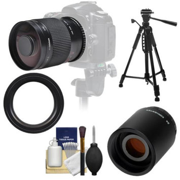 Samyang 500mm f/8.0 Mirror Lens with 2x Teleconverter (=1000mm) + 58