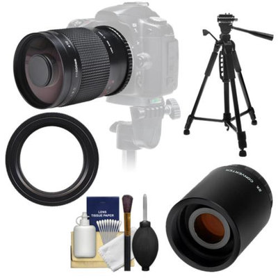 Samyang 500mm f/8.0 Mirror Lens with 2x Teleconverter (=1000mm) + 58