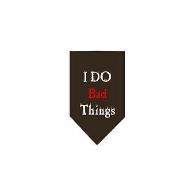 Ahi I Do Bad Things Screen Print Bandana Cocoa Small