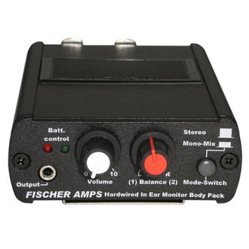 Fischer Amps 001100 Fischer Amps Hard-wired In Ear Body Pack Headphone Amplifier 001100