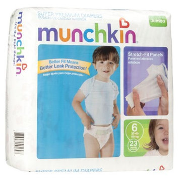 Munchkin Super Premium Diapers Jumbo Pack - Size 6 (23 Count)