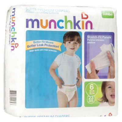 Munchkin Super Premium Diapers Jumbo Pack - Size 6 (23 Count)