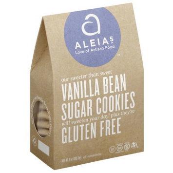 Aleia's Aleias Gluten Free Vanilla Bean Sugar Cookies, 9 oz, (Pack of 6)