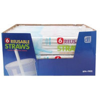 Hoan 5100761 Replacement Reusable Plastic Straw - 6 Count