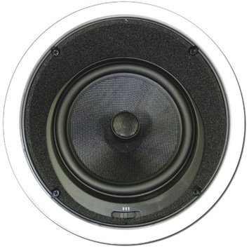 Theater Solutions TSS8A 8 In Ceiling Surround Sound HD Home Theater Round Glass Fiber Angled Speaker