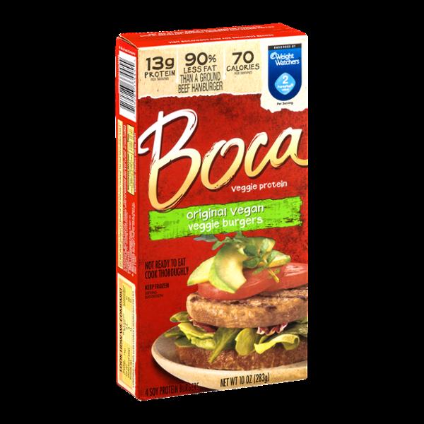 Boca Veggie Protein Original Vegan Veggie Burgers - 4 CT