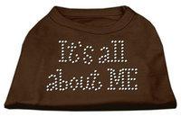 Ahi It's All About Me Rhinestone Shirts Brown XXXL (20)