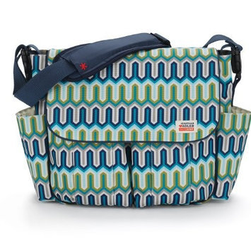 Skip Hop Jonathan Adler Dash Diaper Bags, Chevron Blue (Discontinued by Manufacturer)