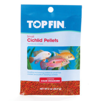 Top Fin Cichlid Color Enhancing Small Pellets Fish Food