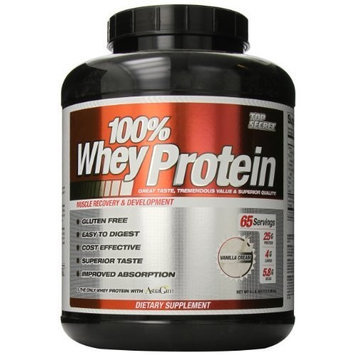 Top Secret Nutrition 100% Whey Protein Powder, Vanilla