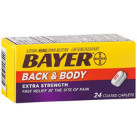 Bayer Back & Body Extra Strength Coated Caplets, 24 ea