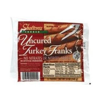 Shelton's Poultry, Turkey Franks, 12 Oz (Pack of 6)