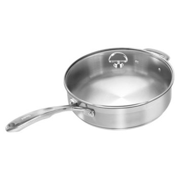 Chantal Induction 21 Steel 5qt Saute Skillet with Lid