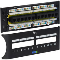 ICC-ICMPP12F6E Cat 6 12 Port Front Access Patch Panel
