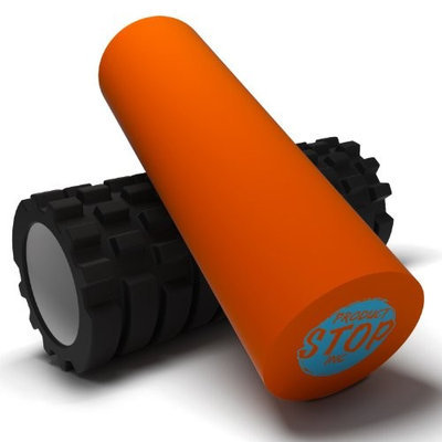 Product Stop, Inc Exercise Foam Roller - Professional Grade, High-Density Incorporates Unique 2 In 1 Trigger-Point Design - Massages, Soothes, Refreshes And Invigorates - Fits Conveniently Inside Your Sports Bag []