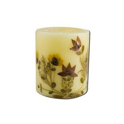 Auroshikha Candles & Incense 3 in Pillar (2-3/4 in x 3 in) Flower Candles Cinnamon Auroshikha Candles & Incen