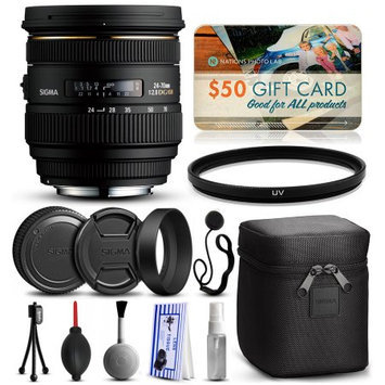 47th Street Photo Sigma 24-70mm F2.8 IF EX DG HSM Lens for Pentax (571109) with Starter Accessories Package includes UV Ultraviolet Filter + Deluxe Cleaning Kit + Air Dust Blower + Cap Keeper + $50 Prints Gift Card