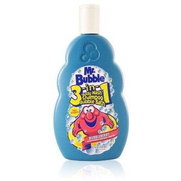 Mr. Bubble 3-In-1 Body Wash- Shampoo-Bubble Blbry 12 oz. Blue