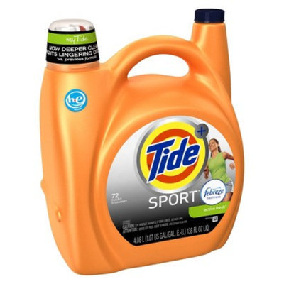 Tide Plus Febreze Sport Active Fresh High Efficiency Liquid Laundry