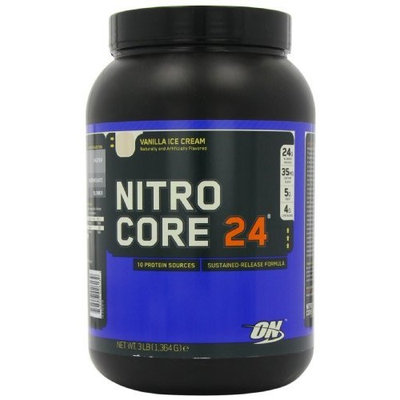 Optimum Nutrition Nitrocore 24 Vanilla Ice Cream, 3 Pound