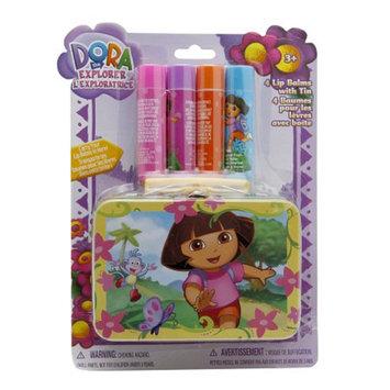 Dora the Explorer 4 Lip Balms with Tin Assorted Flavors