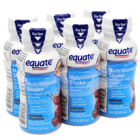 Equate Delicious Chocolate Nutritional Shake, 8 fl oz, 6 count