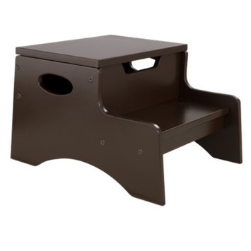 Kidkraft KidKraft Step 'n Store Kids Step Stool in Chocolate