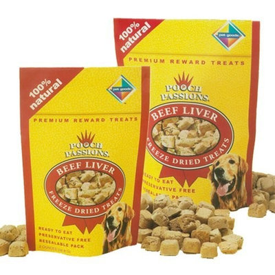 Pet Goods Mfg   Imports Pet Goods Pooch Passions Freeze-Dried Beef Liver Dog Treats