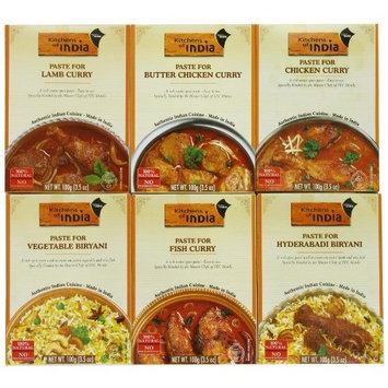 Kitchens of India Curry Paste Variety Pack, 3.5 Ounce (Pack of 6)