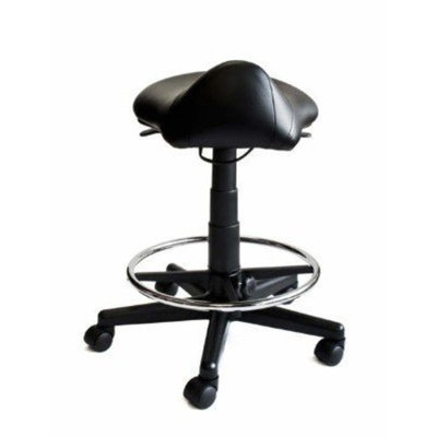 Idealsalons Saddle Stool with Foot Rest Ring